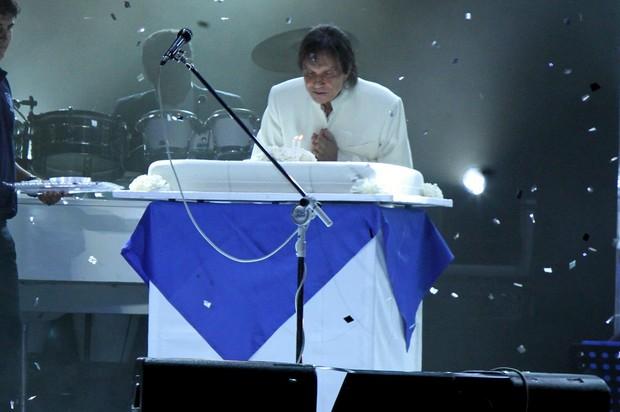 Roberto Carlos comemora aniversário em show no Rio (Foto: Roberto Filho/ Ag.News)