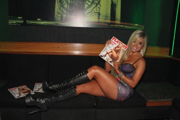 Aryane Steinkopf lança revista em boate no Rio (Foto: Thyago Andrade/ Photo Rio News)