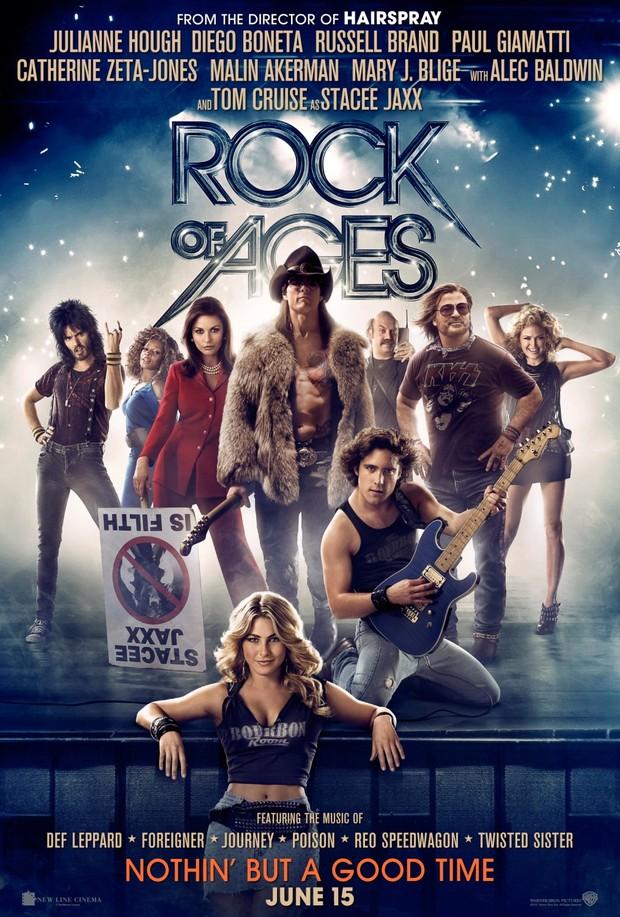 Pôster da versão cinematográfica do musical 'Rock of Ages', estrelada por Tom Cruise (Foto: Divulgação / Divulgação)