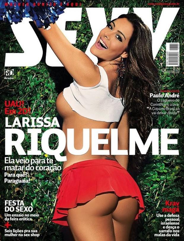 Larissa Riquelme na capa da revista 'Sexy (Foto: Sexy / Divulgação)