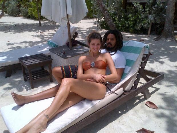 Isabelli Fontana e Rohan Marley (Foto: Reprodução/Twitter)