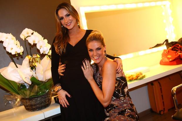 Claudia Leitte e Ana Hickmann em festa em São Paulo (Foto: Iwi Onodera/ EGO)