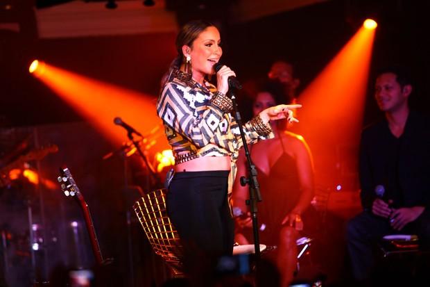Claudia Leitte canta em São Paulo (Foto: Iwi Onodera/ EGO)