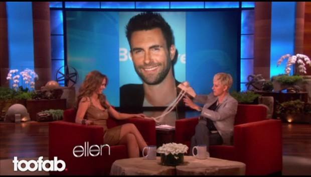 Jennifer Love Hewitt no programa da Ellen Degeneres (Foto: Reprodução)