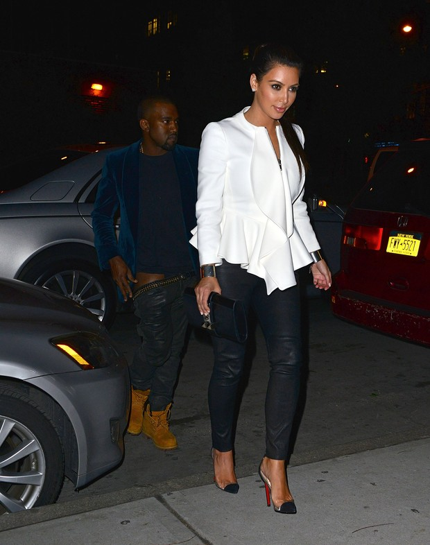 Kanye West e Kim Kardashian (Foto: Agência/Getty Images)