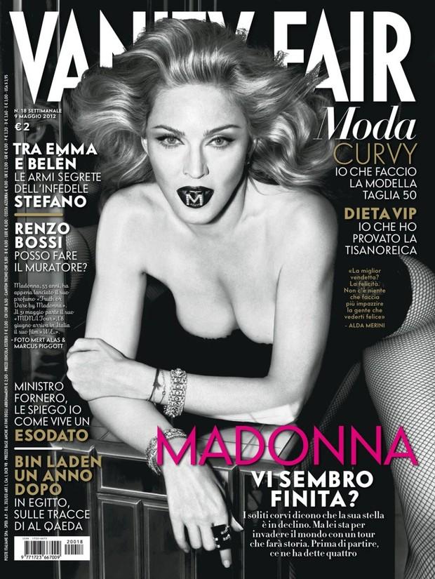 Madonna na capa da edição italiana da revista 'Vanity Fair' (Foto: Divulgação / Divulgação)