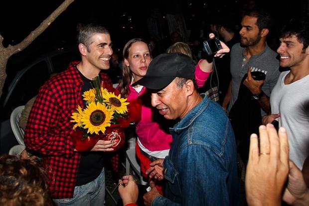 Reynaldo Gianecchini causa tumulto em saída de evento em São Paulo (Foto: Manuela Scarpa/Photorio News)