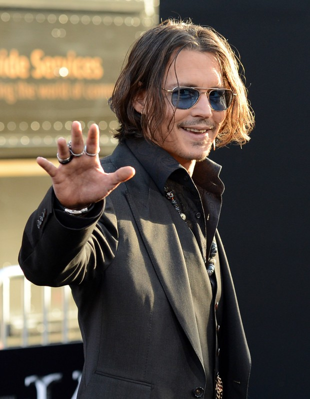 Johnny Depp na première do filme 'Dark Shadows' em Los Angeles, nos Estados Unidos (Foto: Getty Images/ Agência)