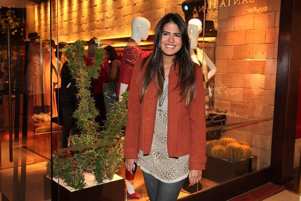 Antônia Moraes em evento em shopping em São Paulo (Foto: Manuela Scarpa / Photo Rio News)