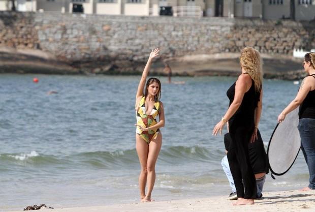 Tammy Di Calafiori em Copacabana (Foto: André Freitas/ Ag. News)