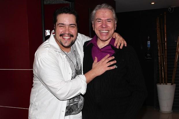 Tiago Abravanel com o tio Sílvio Santos (Foto: Manuela Scarpa/Photorionews)