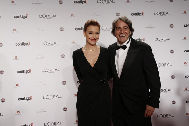 Júlia Lemmertz e Alexandre Borges no Prêmio Contigo (Foto: Isac luz / EGO)