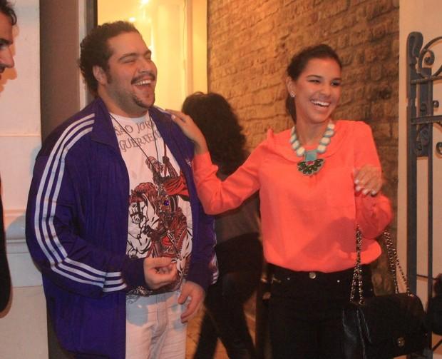 Tiago Abravanel e Mariana Rios em show no Rio (Foto: Rodrigo dos Anjos / Ag. News)