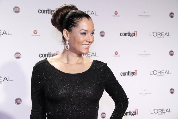 Monica Carvalho no Prêmio Contigo! TV no Rio (Foto: Isac Luz/ EGO)
