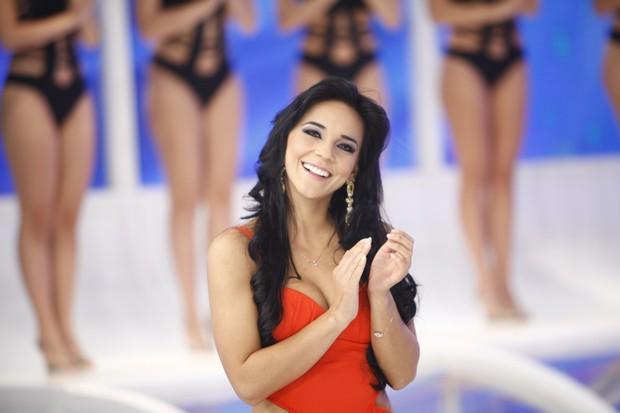 Rafinha Viscardi, namorada do cantor Gusttavo Lima (Foto: Edu Moraes/ Record)