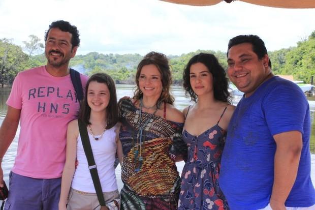 Maria Flor, Marcos Palmeira, Rita Guedes, Emanoel Freitas e Jeniffer Oliveira (Foto: Wesley Costa/Agnews)