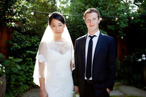 Mark Zuckerberg se casa (Foto: Reprodução/Facebook)