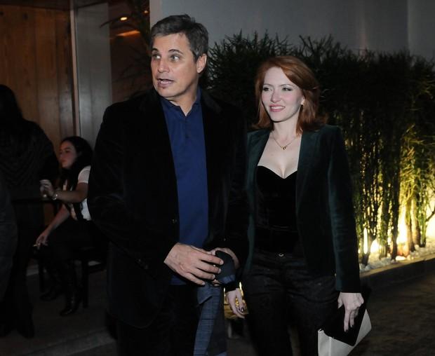Edson Celulari e Karin Roepke  (Foto: Francisco Cepeda/AgNews)