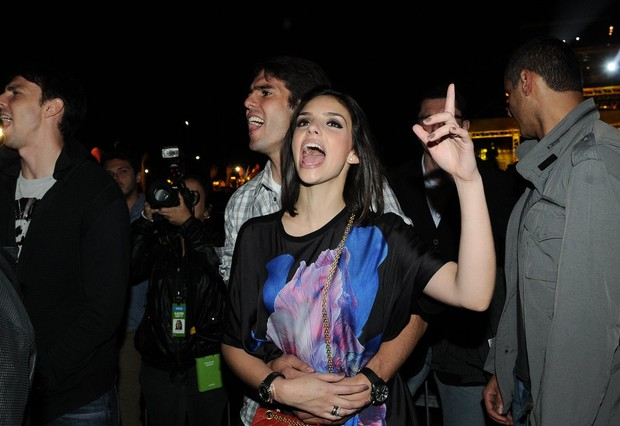 Carol Celico e Kaká em show em São Paulo (Foto: Francisco Cepeda/ Ag.News)