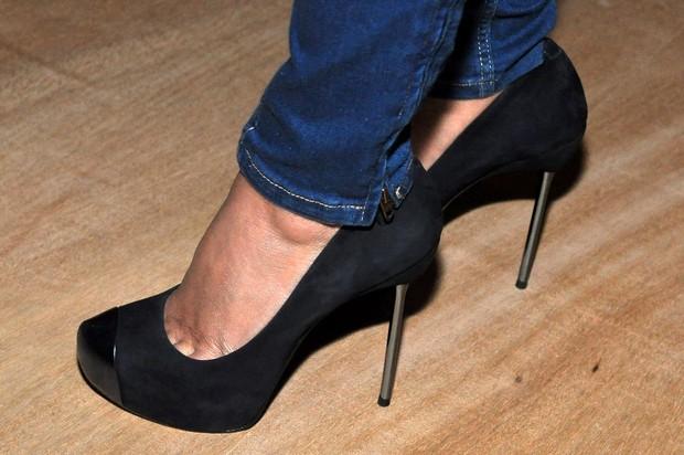 Detalhe do sapato de Mariana Rios no Fashion Rio (Foto: Roberto Teixeira / EGO)