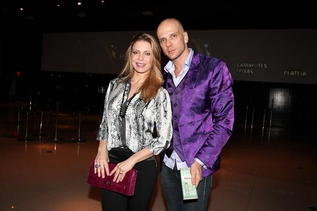 Sheila Mello e Fernando Scherer em show em São Paulo (Foto: Manuela Scarpa/ Photo Rio News)