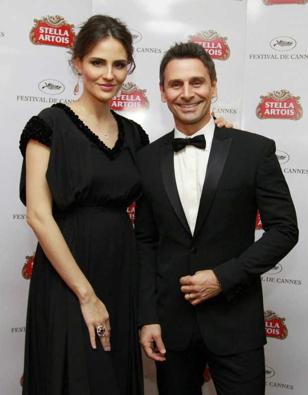 Fernanda Tavares e Murilo Rosa em Cannes (Foto: Felipe Panfili / AgNews)