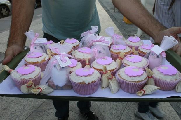 Lembrançinhas que Grazi distribuiu aos amigos (Foto: Jeferson Ribeiro / AgNews)
