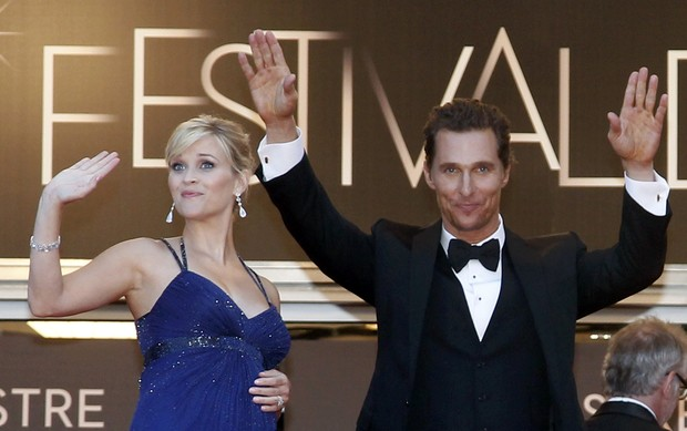 Reese Witherspoon e McConnaughey no Festival de Cannes (Foto: Agência/ Reuters)