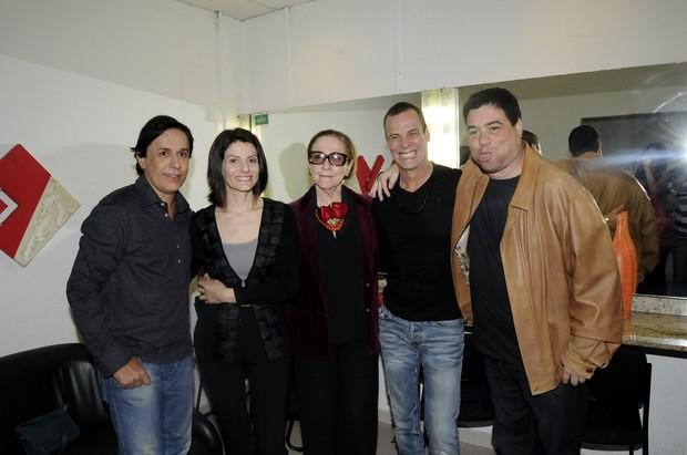 Tom Cavalcante, Malga di Paula, Fernanda Montenegro, Carlinhos de Jesus e André Lucas (Foto: Kadu Ferreira/Photo Rio News)