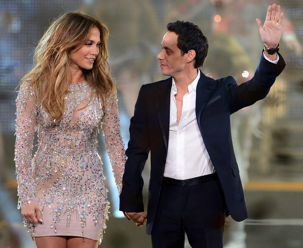 Jennifer Lopez e Marc Anthony (Foto: Agência/Getty Images)