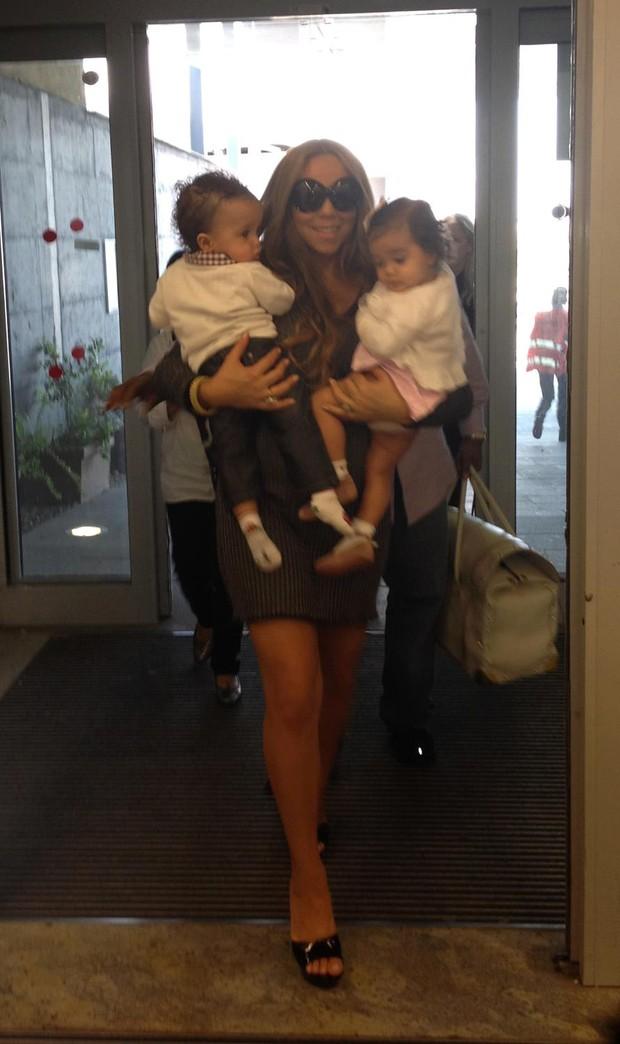 Mariah Carey com os filhos (Foto: Reprodução/Facebook)