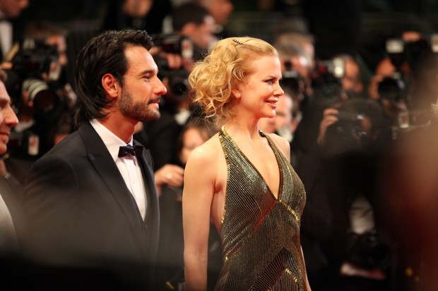 Rodrigo Santoro e Nicole Kidman em Cannes (Foto: Alice Lhermitte / AgNews)