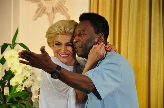 Hebe e Pelé (Foto: Renata de Paula / REDETV!)