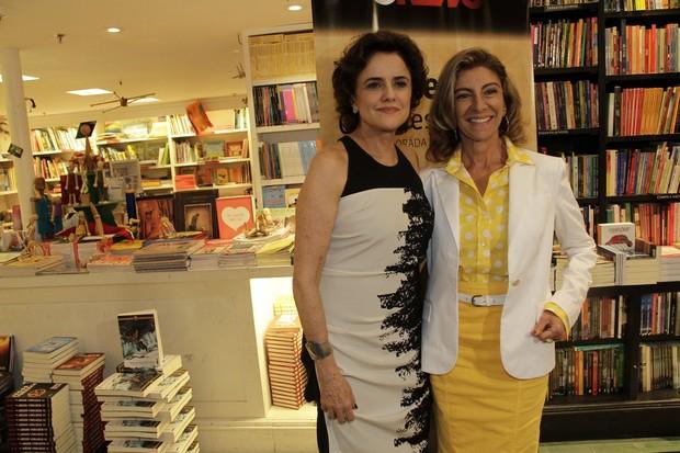 Marieta Severo e Marília Pêra no lançamento do programa 'Starte' (Foto: Isac luz / EGO)