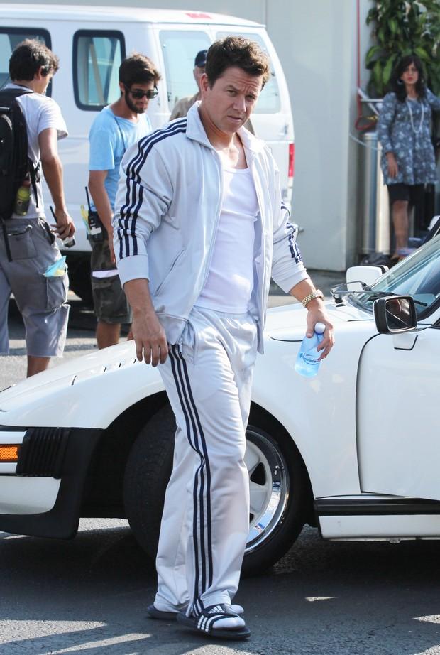 Mark Wahlberg em set de filmagem (Foto: X17)