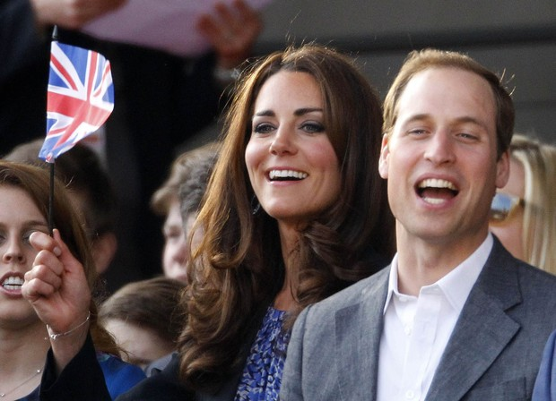 Kate Middleton e o príncipe William (Foto: Reuters)