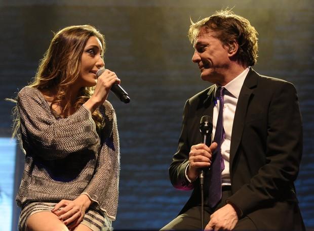 Fábio Jr. se apresenta com a filha Tainá Galvão em São Paulo (Foto: Francisco Cepeda/ Ag.News)