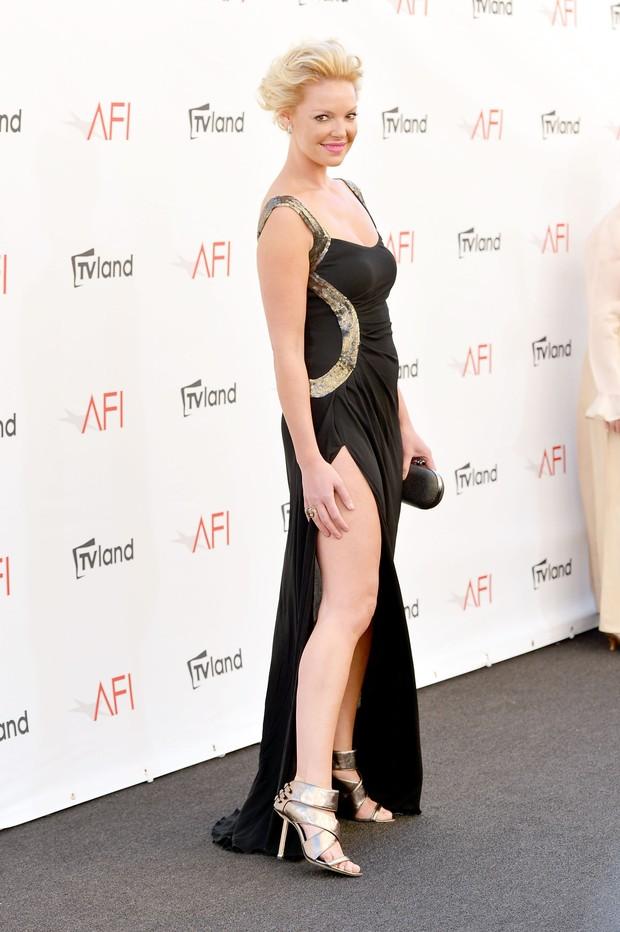 Katherine Heigl na 40ª edição do prêmio 'AFI Life Achievement Award' em Los Angeles, nos Estados Unidos (Foto: Getty Images/ Agência)