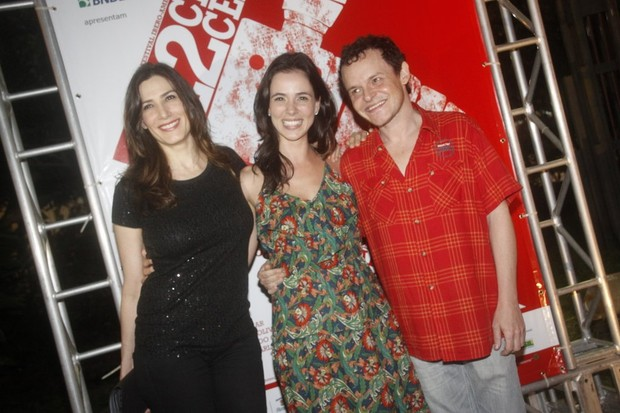 Virg&#237;nia Cavendish, Miriam Freeland e Matheus Nachtergaele no Cine Cear&#225; (Foto: Philippe Lima / Ag. News)
