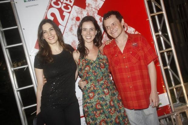 Virgínia Cavendish, Miriam Freeland e Matheus Nachtergaele no Cine Ceará (Foto: Philippe Lima / Ag. News)