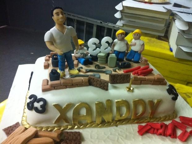 Bolo dos 33 anos de Xanddy (Foto: Divulgação)