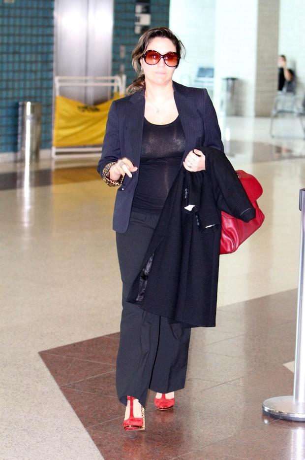 Maria Rita no aeroporto Santos Dumont, RJ (Foto: Leotty Jr./Agnews)