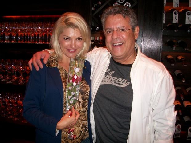 Antônia Fontenelle e Marcos Paulo comemoraram o Dia dos Namorados (Foto: Divulgação)