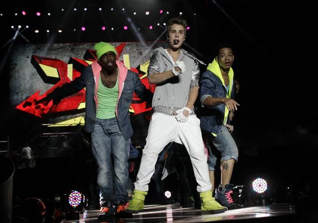 Justin Bieber em show na Cidade do México (Foto: Reuters/ Agência)