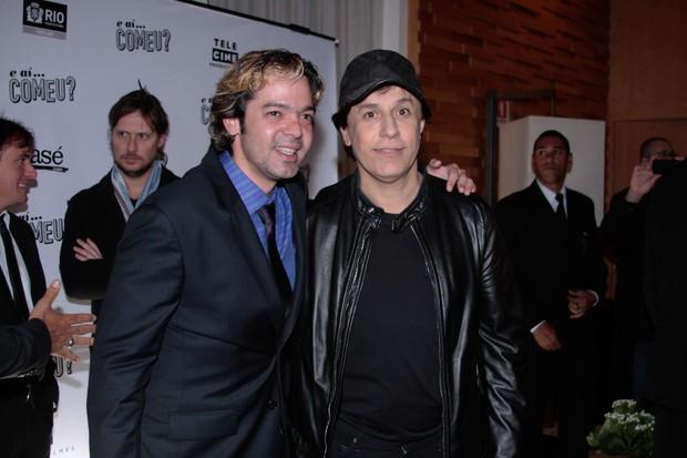 Bruno Mazzeo e Tom Cavalcante em pré-estreia de filme em São Paulo (Foto: Foto Rio News)