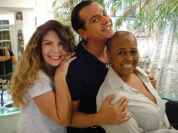 Elba Ramalho, Flávio Priscott e Sandra de Sá (Foto: Divulgação)