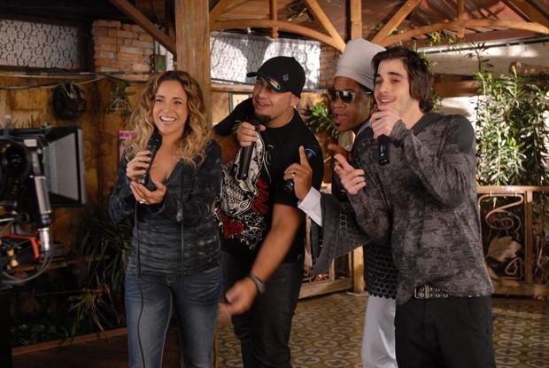 Daniela Mercury, Digão, Carlinhos Brown e Fiuk (Foto: Divulgação)