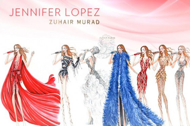 Jennifer Lopez divulga os figurinos que usará nos shows do Brasil (Foto: Reprodução)