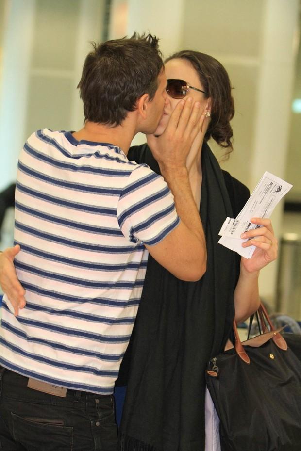 Murilo Rosa e a mulher (Foto: Leotty Jr/ Agnews)
