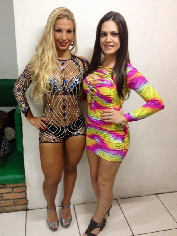 Popozuda e Miquelly, uma das candidatas transex (Foto: Divulgação
